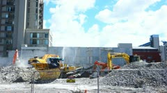 Christchurch heavy machinery Stock Footage