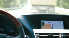 Car With Integrated GPS Navigation Stock Footage