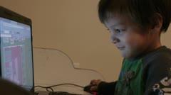 computer kid 2 - stock footage