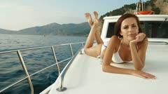 Mediterranean Yacht Charter - stock footage