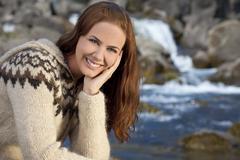 Beautiful scandinavian woman portrait Stock Photos