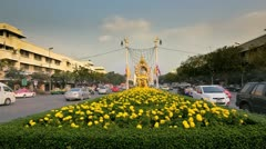 Khok Wua intersection in Bangkok Stock Footage