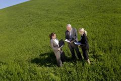 Environmental planning team in field Stock Photos