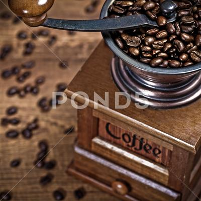 Stock photo of coffee mill