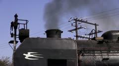 Steam Engine Idling At Umekoji Museum Stock Footage