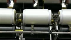 Roller for spinning thread Stock Footage