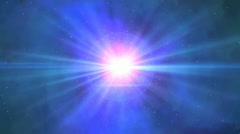 Fly in space Stock Footage