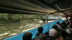 Canalboat ride in Bangkok Stock Footage