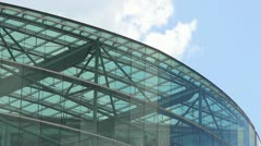 Glass roof of building Stock Footage