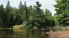 River In Algonquin Stock Footage