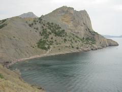 Stock Photo of mountains sea and beach