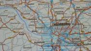 Hamburg  map section Stock Footage