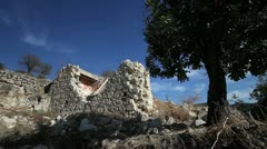 Deserted Turkish Cypriot village Evretou in southern Cyprus 8 Stock Footage