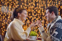 Stock Photo of romantic evening date