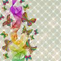 Stock Illustration of abstract color wave with butterfly