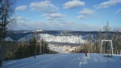 Ski Resort Divnogorsk 05 Stock Footage