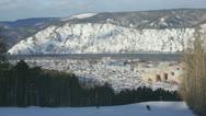 Ski Resort Divnogorsk 04 Stock Footage