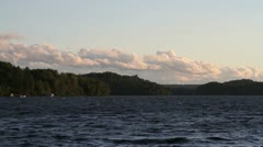 Lake Muskoka Landscape Stock Footage