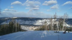 Ski Resort Divnogorsk 06 pan - stock footage