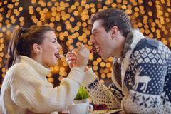 romantic evening date - stock photo