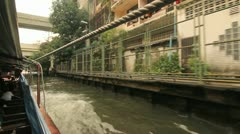 Saen Saeb Khlong boat ride Stock Footage
