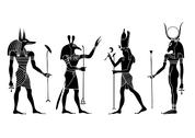 Stock Illustration of egyptian gods and goddess