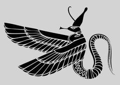 Egyptian demon - vector Stock Illustration