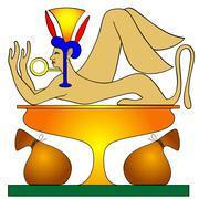 treasurer - mythical creatures - stock illustration