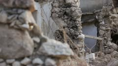 Deserted Turkish Cypriot village Evretou in southern Cyprus 15 Stock Footage