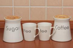 Coffee with sugar - stock photo