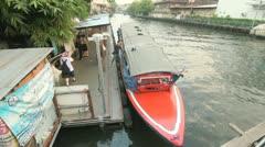 Panfa Leelard boat pier, Maha Nak, Bangkok Stock Footage