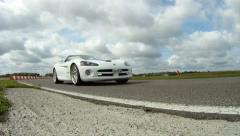Supercar drive by - stock footage