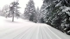 Driving in winter Stock Footage