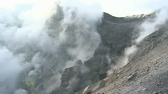 Smoking crater of the Rabaul volcano in Papua New Guinea 10 Stock Footage