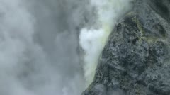 Smoking crater of the Rabaul volcano in Papua New Guinea 14 Stock Footage