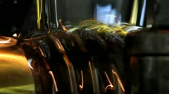 Pouring oil Stock Footage
