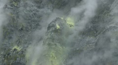 Smoking crater of the Rabaul volcano in Papua New Guinea 15 Stock Footage