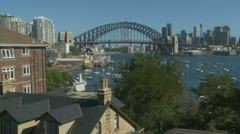 View from housing to Sydney Harbour bridge (2) Stock Footage
