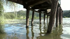 Under the pier Stock Footage