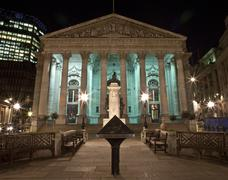 The Royal Exchange in London. Stock Photos