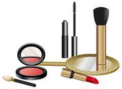 Cosmetics set Stock Illustration