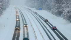 Driving in winter - stock footage