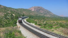 2628 New Delhi - Bangalore Karnataka Express through Makalidurga Ghat section in Stock Footage