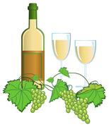 Stock Illustration of wine