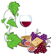 Stock Illustration of red wine