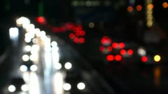 Traffic at night Stock Footage