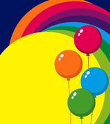 balloons - stock illustration
