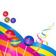 Candies and ribbons Stock Illustration
