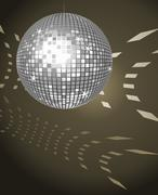 disco ball - stock illustration