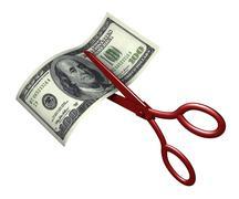Cutting Costs - stock illustration